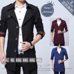 ビジネスコート 紳士服 アウター トレンチコート ジャケット スプリングコート メンズファッション ロングコート 大きサイズ