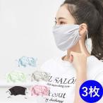 接触涼しい マスク 3枚セット 抗菌 防汚 洗えるマスク 抗菌 秋冬マスク マスク レギュラー サイズ 立体縫製