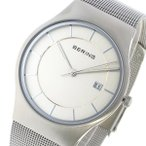 ベーリング 腕時計 メンズ BERING シルバー