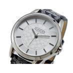 ショッピングコーチ コーチ 腕時計 レディース COACH レザー シルバー/グレー×ブラック