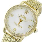 ショッピングコーチ コーチ 腕時計 レディース デランシー DELANCEY COACH シェルホワイト