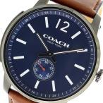 ショッピングコーチ コーチ 腕時計 メンズ ブリーカー Bleecker COACH レザー ネイビー/ブラウン