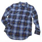 エキプモン ブラウス シャツ レディース EQUIPMENT 長袖 Sサイズ ブラック/ブルー