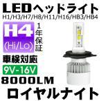 送料無料-『ロイヤルナイト』車検対応 瞬間点灯 LEDヘッドライト H4 Hi/Lo フォグランプ 360°全面発光 1年保証