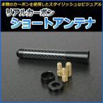 リアルカーボンショートアンテナ 85mm 三菱 ジープ[メ]