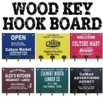 Culture Mart アメリカン ウッドキーフックボード 看板 ハンガー キー フック 木製 インテリア DIY