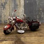 ブリキ製 オールド バイク ミニサイズ レッド アメリカン雑貨 世田谷ベース ハーレー