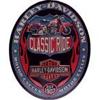 ショッピングハーレーダビッドソン ハーレーダビッドソン ブリキ 看板 オーバル メタル プレート Harley Davidson Classic Ride バイク ハーレー グッズ インテリア 看板 世田谷ベース