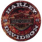 ショッピングハーレーダビッドソン ハーレーダビッドソン 看板 ラウンド メタル プレート Harley Davidson Stone Rust Round バイク ハーレー グッズ 世田谷ベース