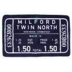 アメリカン フロア マット 1 (MILFORD TWIN NORTH ブラック) The United EMN アメカジ アメリカン アメリカ 雑貨 インテリア 生活雑貨