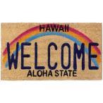 ココマット アメリカン 玄関マット ハワイ Welcome アメリカン雑貨 ハワイアン