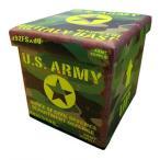 ビンテージ風 フォールディングスツール Sサイズ US ARMY ミリタリー カモフラ 折りたたみ 椅子 イス 収納 ボックス スツール インテリア