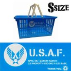 アメリカン プラスチック マーケット バスケット 買い物かご Sサイズ U.S AIR FORCE USAF ミリタリー 買い物カゴ かご 収納 世田谷ベース