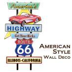 アメリカン ウォールデコ 看板 America's Highway Route66 ルート66 ブリキ プレート アメリカン雑貨 ルート66 グッズ アメリカ 雑貨 アメ車 世田谷ベース