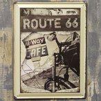 ヴィンテージ風 看板 メタルプレート ルート66 Route66 Hi Way Cafe アメリカン雑貨