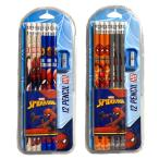 MARVEL マーベル SPIDERMAN スパイダーマン 12P 鉛筆 鉛筆削り セット 文房具 筆記用具 HB 小学生 キッズ 男の子 グッズ