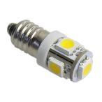 LED豆電球 12V 電球色 5LED 口金サイズE10 LEDライト