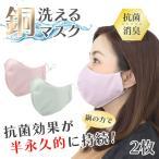 マスク 抗菌 防臭 半永久持続 2枚入り 繰り返し洗える イヤーバンド調節 可能 銅繊維 銅イオン コッパ―マスク 立体マスク