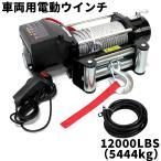 電動ウインチ 12v 12000LBS(5444kg) 電動ホイスト DC12V 無線リモコン付 (クーポン配布中)