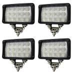 LED作業灯 45W 6000K 防水 タイプT 12V 24V対応 集魚灯 ステー付 4個セット (クーポン配布中)