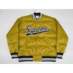 2016AW Supreme Script Varsity Puffy Jacket Gold Yellow シュプリーム スクリプトヴァーシティパフィージャケット ゴールド イエロー