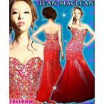 JEANMACLEAN ドレス jean maclean フォーマルドレス パーティードレス  キャバ ドレス フリーダム ドレス 豪華大粒ビジュートレーンロングドレス