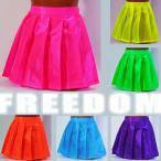 コスプレ衣装 コスチューム プリーツスカート ミニスカート 透けスカート セクシーコス ビビットカラーのスパークサテンプリーツミニスカート Mサイズ
