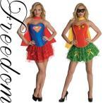 セール sale ハロウィン  スーパーガール スーパーマン アメコミ 女性用 コスプレ 衣装 人気ヒーロースーパーガールコスチューム