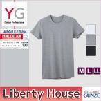 GUNZE グンゼ forMEN'S【YG】COTTON100%[ALL SEASON]クルーネック半袖Tシャツ(M・L・LL・3Lサイズ)YV0013N