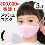【翌日出荷】30万枚突破!爽やか メッシュマスク 3枚 子ども用 大人用 個包装 接触冷感 メンズレディース 個別包装 清涼 繰り返し使える速乾 送料無料