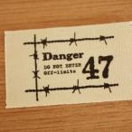 ハンドメイドに布タグ5枚セット綿平織32mm横-有刺鉄線(黒)