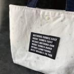 ハンドメイドにBig刺繍タグ5枚セット‐NOTHING(黒×白)