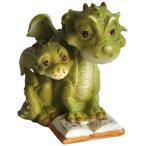 素敵なオブジェ【お取り寄せ】♪Top Collection Miniature Fairy Garden and Terrarium Mama Dragon Reading with Baby Statue
