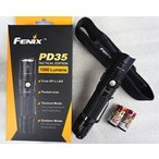 """""""LEDライト""""FENIX PD35 TAC 2015 Tactical Edition 1000 Lumen CREE XP-L LED Flashlight with Two LegionArms CR123A Lithium Batteries"""