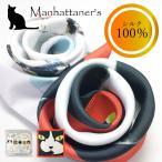 日本製 シルクスカーフ マンハッタナーズ ネコ柄 おしゃれ スカーフ 猫 Manhattaner's 贈り物 プレゼント 母の日 誕生日 首元 首周り アート ブランド