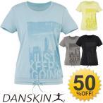 ダンスキン DANSKIN レディース Tシャツ 半袖シャツ ヨガ フィットネスウェア ダンス トレーニング ジム ランニングシャツ 婦人・女性用 モノトーン/DB76117
