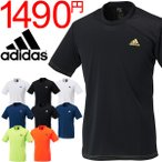 アディダス メンズ 半袖 Tシャツ adidas M BASIC PES Tシャツ ワンポイント ランニング トレーニング ジム ウェア 男性 トップス スポーツウェア/DJF43
