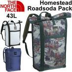 ショッピングバック バックパック リュックサック ザ・ノースフェイス THE NORTH FACE アウトドア かばん 43L 防水 メンズ レディース Homestead Roadsoda Pack 正規品/NM71704