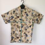 ショッピングアロハシャツ アロハシャツ(日本製)  復刻 和柄アロハシャツ 岡重謹製 MAJIKAO マッチ・緑
