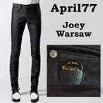 april77エイプリル77 joey warsaw光沢ブラックコーティング・スキニー,april77,スキニーパンツ,スキニーデニム,スキニーメンズ,スキニージーンズ