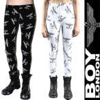 BOYLONDON ボーイロンドン 正規品 BOY柄ロゴプリント レギンス 2カラー ロックファッション パンク ロック ファッション カップル