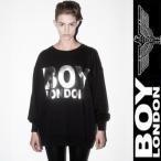 BOY LONDONボーイロンドン、シルバー箔BOYロゴプリントスウェット,ロックファッション,パンクファッション,パンク,ロック 着こなし,トレーナー