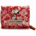 Cath Kidston キャスキッドソン 三つ折り財布 WALLET SNOOPY LOVE PAPER DITSY
