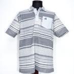 カプリ ポロシャツ 半袖 日本製 メンズ グレー 春夏