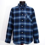CAPRI カプリ ボタンダウン ネルシャツ 長袖 ネイビー メンズ ファッション 服 カジュアル 秋冬