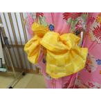 女児 兵児帯 子供用 へこ帯 Suger bag イエロー ゆかた 浴衣 子供 和装 小物