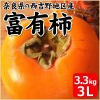 富有柿 奈良県産 3.3kg箱 3Lサイズ 11個入り 柿 かき カキ 果物 フルーツ お取り寄せ お土産 ギフト プレゼント 特産品 名物商品 お歳暮 御歳暮