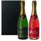 島根ワイナリー デラウェア マスカット・ベーリーA スパークリングワイン 750ml 2本セット お取り寄せ お土産 ギフト プレゼント 特産品 名物商品 敬老の日