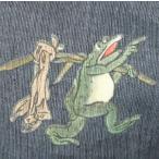 ◆お奨め◆「勝負だケロッ!!」大きいサイズ 3L 4L メンズ 和柄 甚平  蛙 花火大会 夏祭り 男女兼用 和服【送料無料】