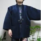 【送料無料】大きいサイズ 3L ベロア半纏 部屋着 防寒対策 冬物和柄半天 メンズ はんてん 女性 子供 通販 日本製 ウレタン ボア 軽量 袢纏